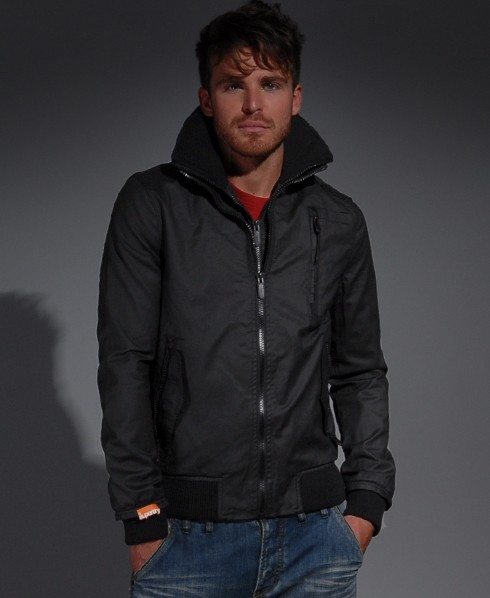 Superdry Black Bomber Jacket